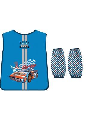 Фартук-накидка с нарукавниками PROFF. Цвет: голубой