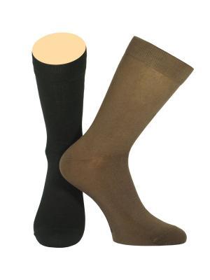 Носки Collonil. Цвет: черный, коричневый