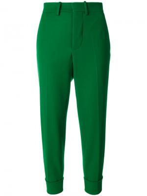 Зауженные брюки с манжетами Marni. Цвет: зелёный