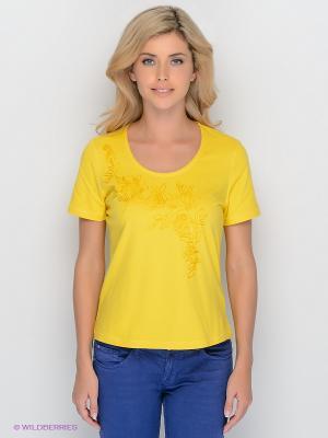 Футболка Lisa Campione. Цвет: желтый