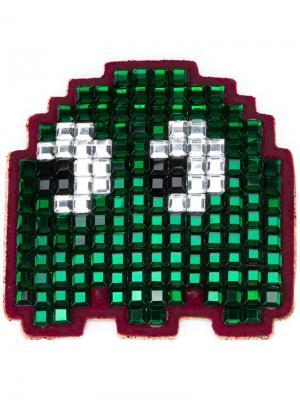 Стикер Pacman Anya Hindmarch. Цвет: зелёный
