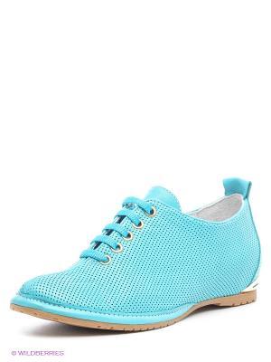 Ботинки Benta. Цвет: бирюзовый