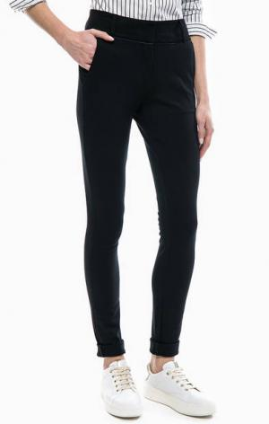 Зауженные брюки из трикотажа LERROS. Цвет: черный