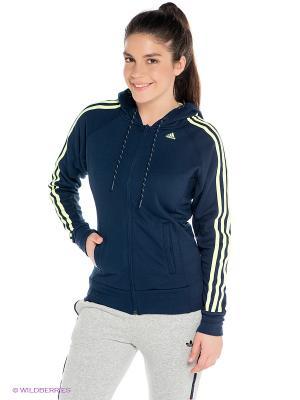 Толстовка Adidas. Цвет: темно-синий, желтый