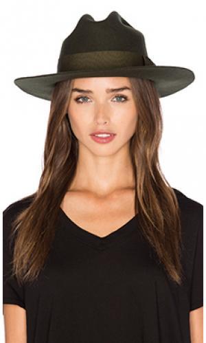 Шляпа федора tara Brixton. Цвет: зеленый
