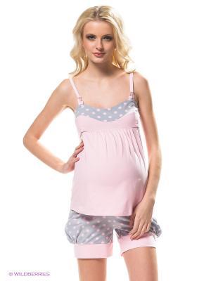 Пижама Hunny Mammy. Цвет: серый, розовый