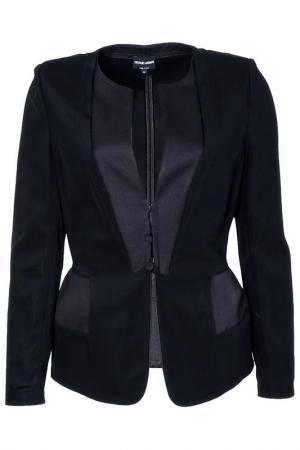 Пиджак с застежкой на пуговицы Giorgio Armani. Цвет: черный