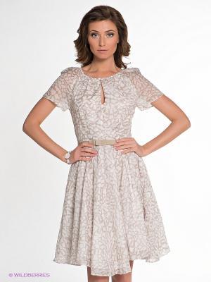 Платье IMAGO. Цвет: молочный, бежевый