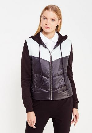Куртка утепленная Juicy by Couture. Цвет: черно-белый