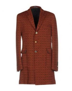 Пальто JOHN SHEEP. Цвет: оранжевый
