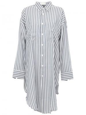 Рубашка в полоску свободного кроя Faith Connexion. Цвет: серый