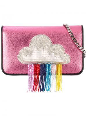 Сумка на плечо с заплаткой в виде облака Les Petits Joueurs. Цвет: розовый и фиолетовый