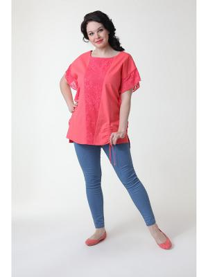 Блуза DizzyWay. Цвет: коралловый