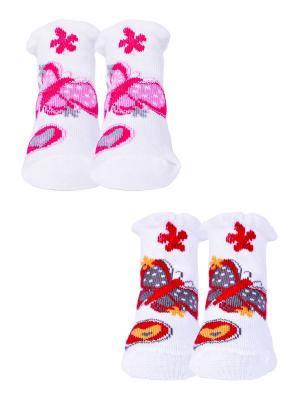 Носки, 2 пары Malerba. Цвет: молочный, белый