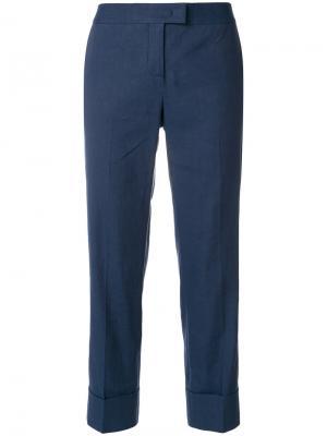 Укороченные классические брюки Fabiana Filippi. Цвет: синий