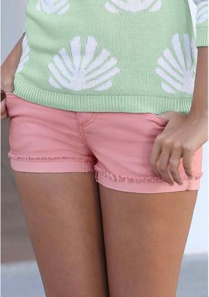 Джинсовые шорты Y.O.U.. Цвет: розовый