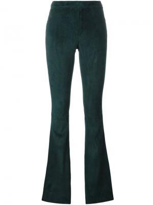 Расклешенные брюки Drome. Цвет: зелёный
