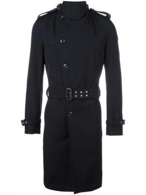 Однобортное пальто Kolor. Цвет: синий