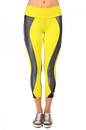 Леггинсы женские  Legging Supplex Black/Yellow CajuBrasil. Цвет: желтый,черный