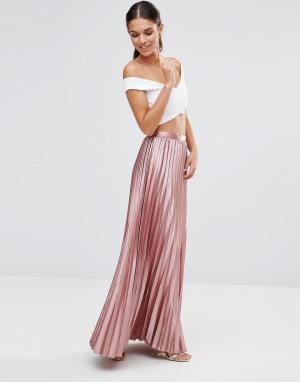TFNC Плиссированная юбка макси. Цвет: рыжий