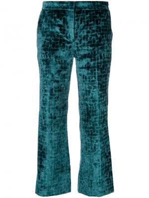 Укороченные бархатные брюки  LAutre Chose L'Autre. Цвет: зелёный