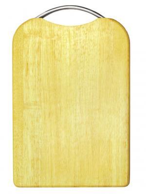 Доска разделочная прямоугольная  с метал.ручкой, желобком 24х36х2 см Oriental Way. Цвет: темно-бежевый