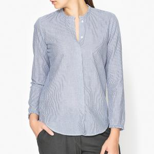 Рубашка CAMILLE HARTFORD. Цвет: синий/ белый