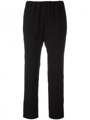 Прямые брюки с эластичным поясом Marni. Цвет: чёрный