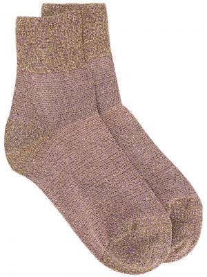 Носки с блестками Missoni. Цвет: металлический