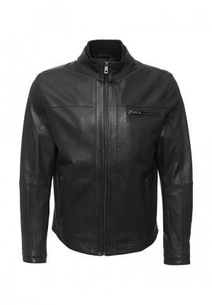 Куртка кожаная Lagerfeld. Цвет: серый