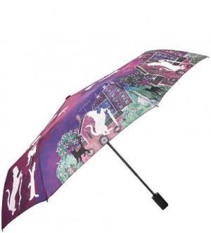 Складной зонт с куполом из полиэстера FLIORAJ. Цвет: мультиколор