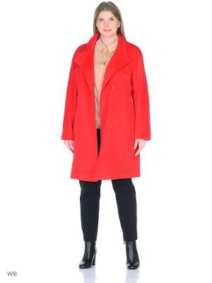 Пальто Леди Шарм. Цвет: красный