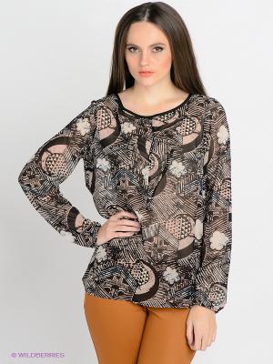 Блузка Blend. Цвет: черный, бежевый