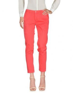 Повседневные брюки BARBA Napoli. Цвет: коралловый