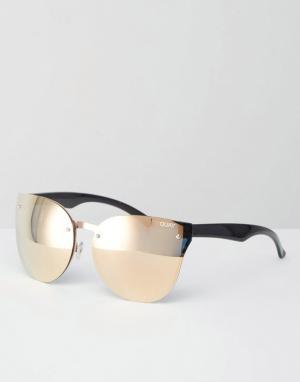 Quay Australia Солнцезащитные очки кошачий глаз Higher Love. Цвет: золотой