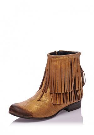 Полусапоги Bueno Shoes. Цвет: золотой