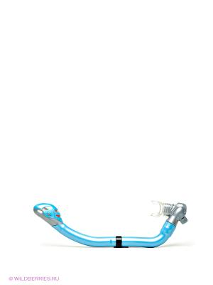 Трубка для маски плавания Mad Wave. Цвет: голубой