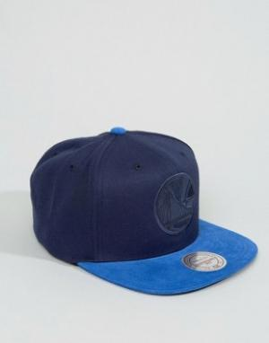 Mitchell & Ness Snapback Cap Max Mini Cord Golden State Warriors. Цвет: темно-синий