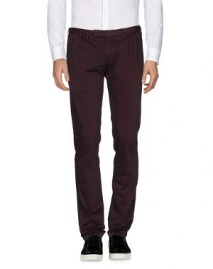 Повседневные брюки GERMANO. Цвет: баклажанный