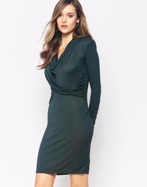 2nd Day Трикотажное платье с драпировкой Grape. Цвет: зеленый