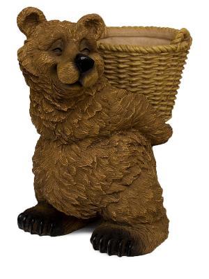 Кашпо Счастливый Миша Sealmark. Цвет: коричневый