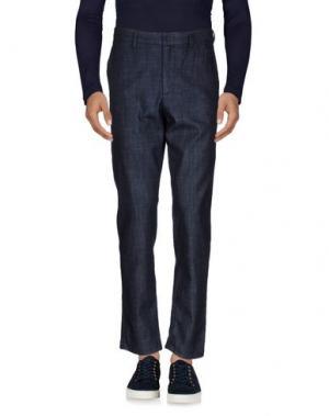 Джинсовые брюки THE EDITOR. Цвет: синий