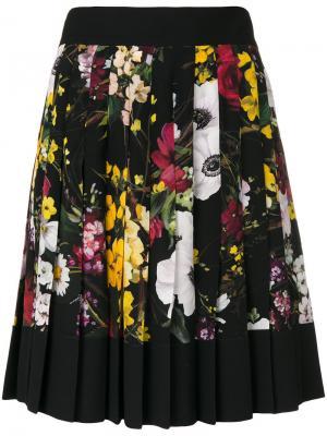 Плиссированная юбка с цветочным принтом Dolce & Gabbana. Цвет: многоцветный