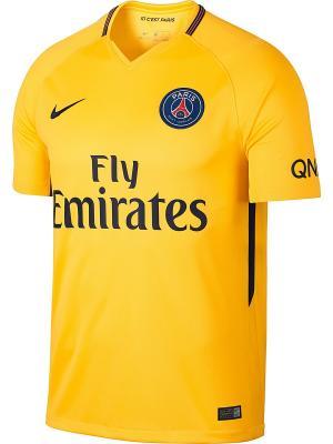 Футболка PSG M NK BRT STAD JSY SS AW Nike. Цвет: желтый