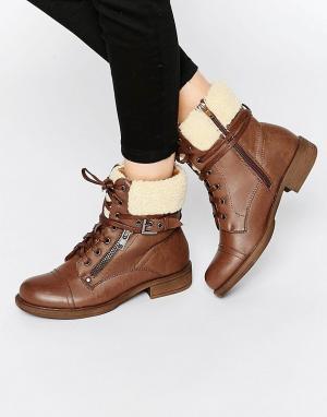 Dolcis Ботинки с подкладкой из искусственного меха и пряжкой. Цвет: рыжий
