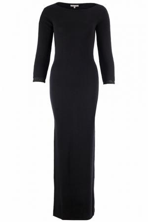 Изящное платье в пол с длинным рукавом Patrizia Pepe. Цвет: черный