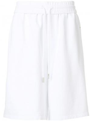 Oversized track shorts Off-White. Цвет: белый
