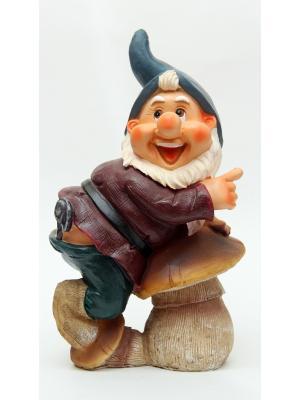 Декоративная фигурка Гном с грибом Magic Home. Цвет: белый