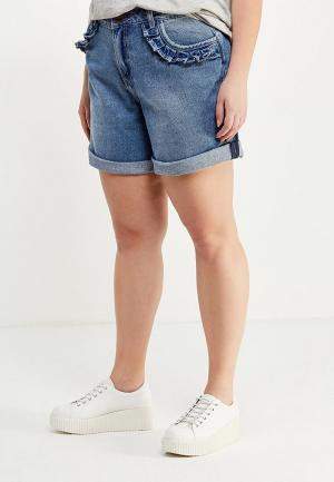 Шорты джинсовые LOST INK PLUS. Цвет: синий