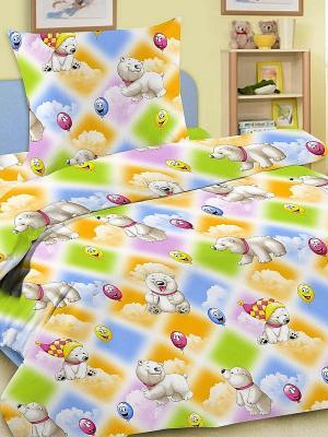 Комплект в кроватку Letto Ясли BGR-08, простыня на резинке, бязь. Цвет: желтый